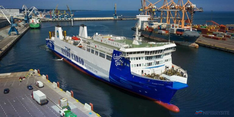 FINBO CARGO seen fresh from her 2020 refit when she was upgraded to Ice Class 1a. Eckero Line.