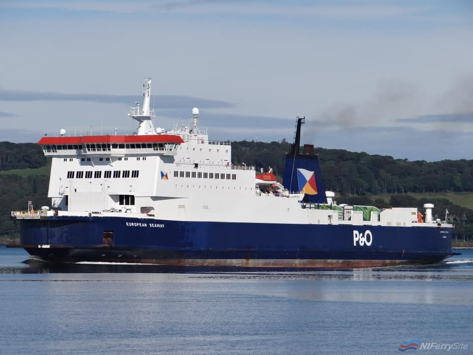 EUROPEAN SEAWAY seen during June 2019 in service between Cairnryan and Larne. Copyright © David Faerder.