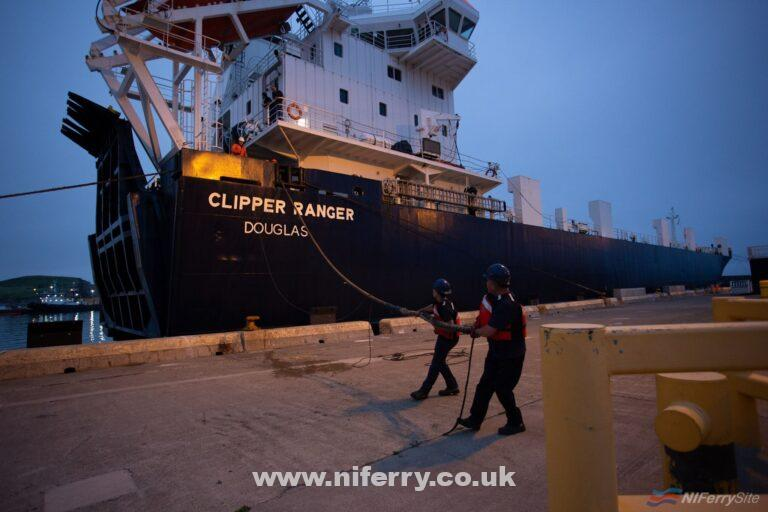 CLIPPER RANGER being tied up in Canada. CTMA.