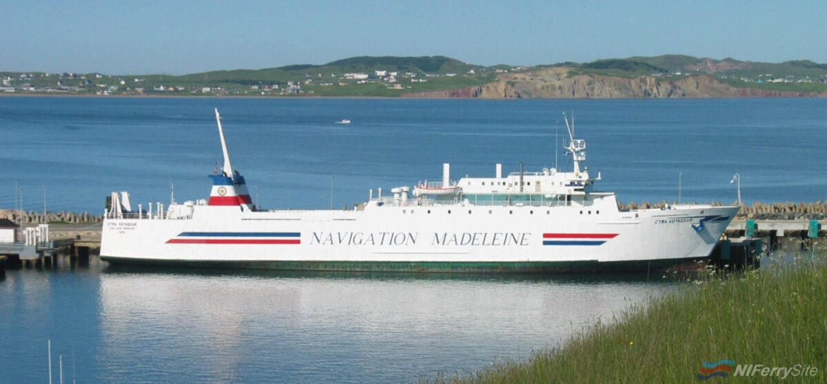 CTMA's Ro-Ro vessel C.T.M.A. VOYAGEUR. She is the former Sealink freighter ANDERIDA. CTMA