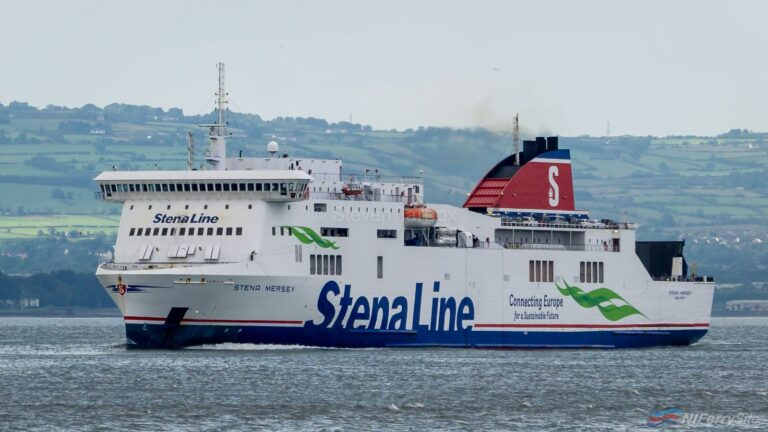 Stena Line's STENA MERSEY approaches Belfast towards the end of another daytime crossing from Birkenhead during July 2019. Copyright © Steven Tarbox.