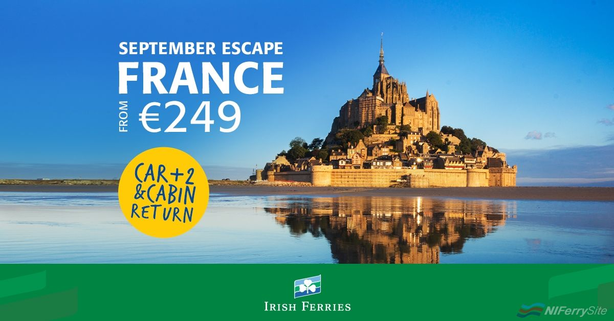 Irish Ferries Special Offer to France