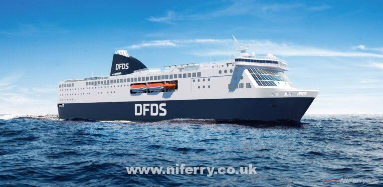 An artists impression of how the new DFDS Amsterdam - Newcastle ferries will look. DFDS