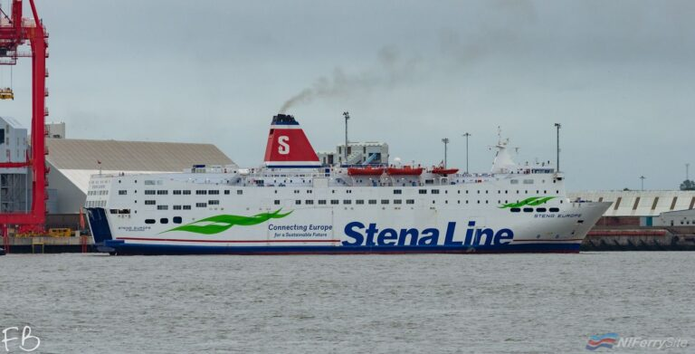 STENA EUROPE arrives In Liverpool from Turkey (via Gibraltar), 15.09.19. Copyright © Christopher Triggs.