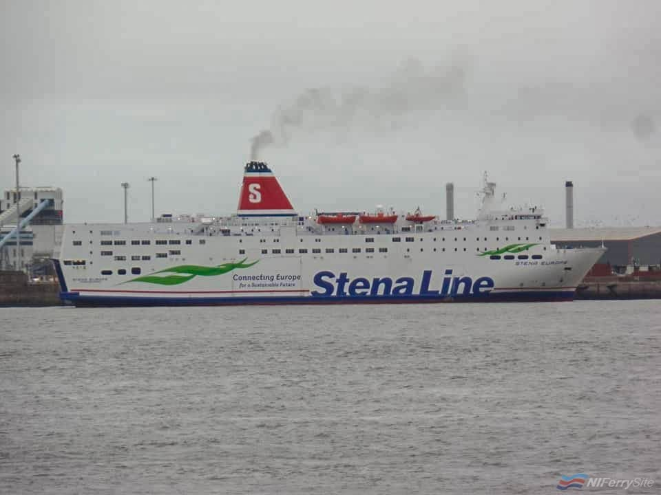 STENA EUROPE arrives In Liverpool from Turkey (via Gibraltar), 15.09.19. Copyright © Rob Foy.