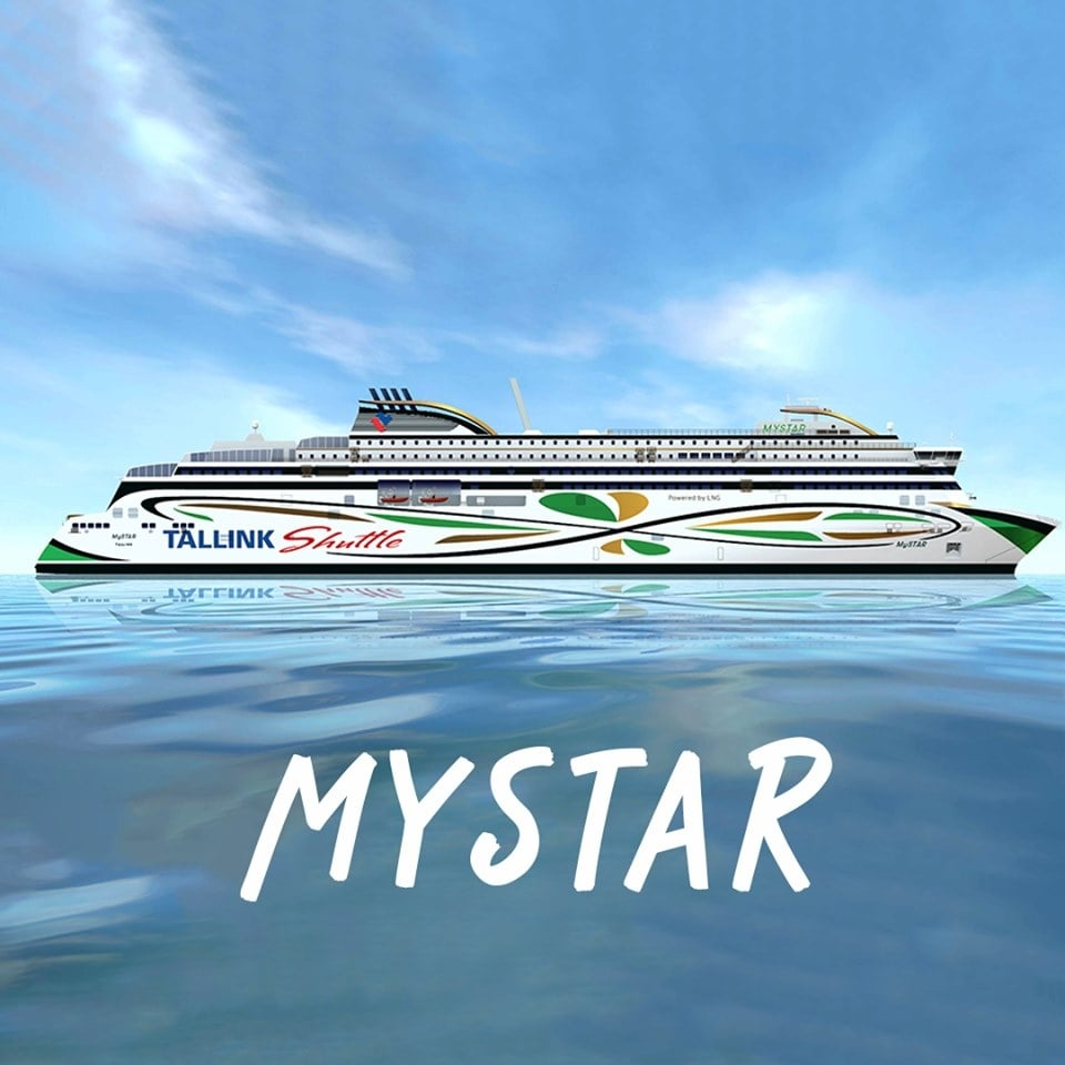 "AS Tallink Grupp image released to announced the selection of the name MYSTAR for their new ""shuttle"" ferry. AS Tallink Grupp."