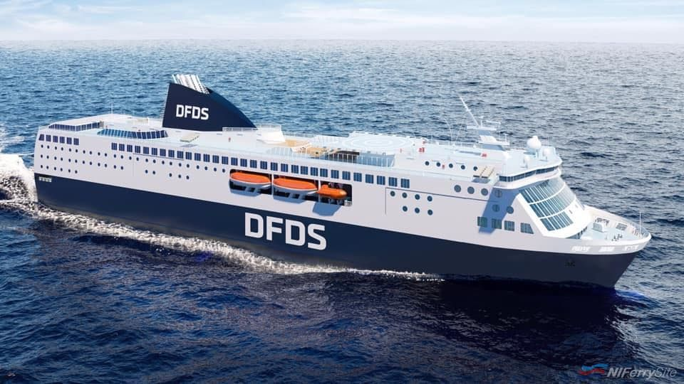 An artists impression of how DFDS's AMSTERDAM SEAWAYS and NEWCASTLE SEAWAYS could have looked. DFDS.