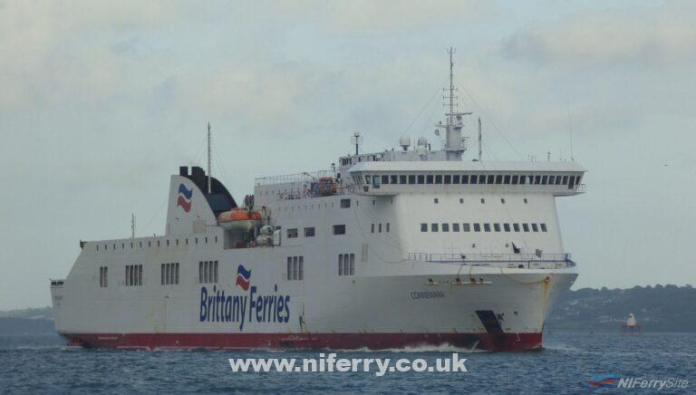 Brittany Ferries CONNEMARA arrives at Cork on 16.08.19. Copyright © Patrick Healy.