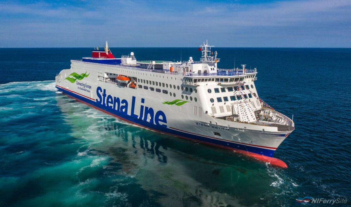 STENA ESTRID on sea trials in the Yellow Sea. Stena Line