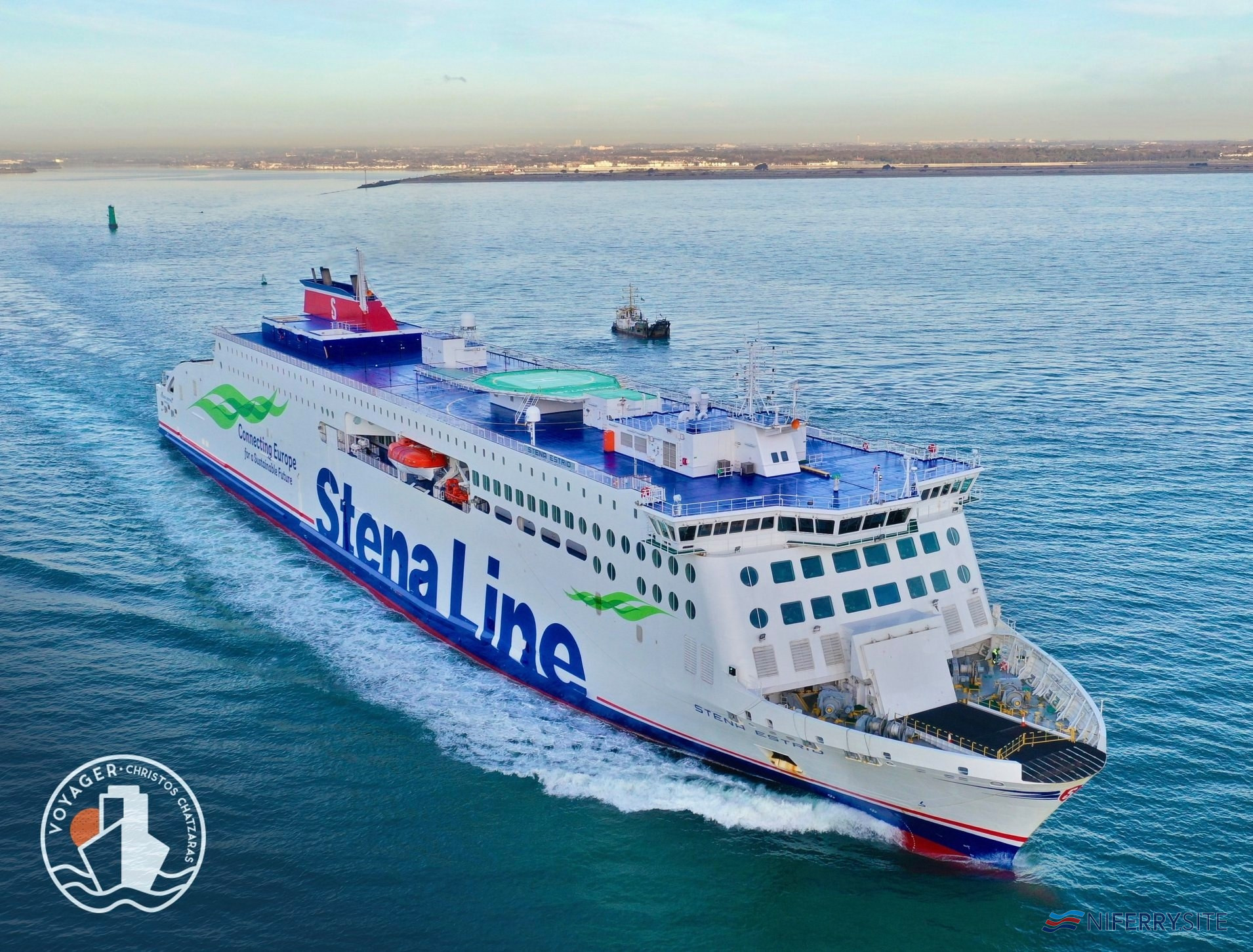 STENA ESTRID departing Dublin for Holyhead. Copyright © Voyager ShipSpotting.