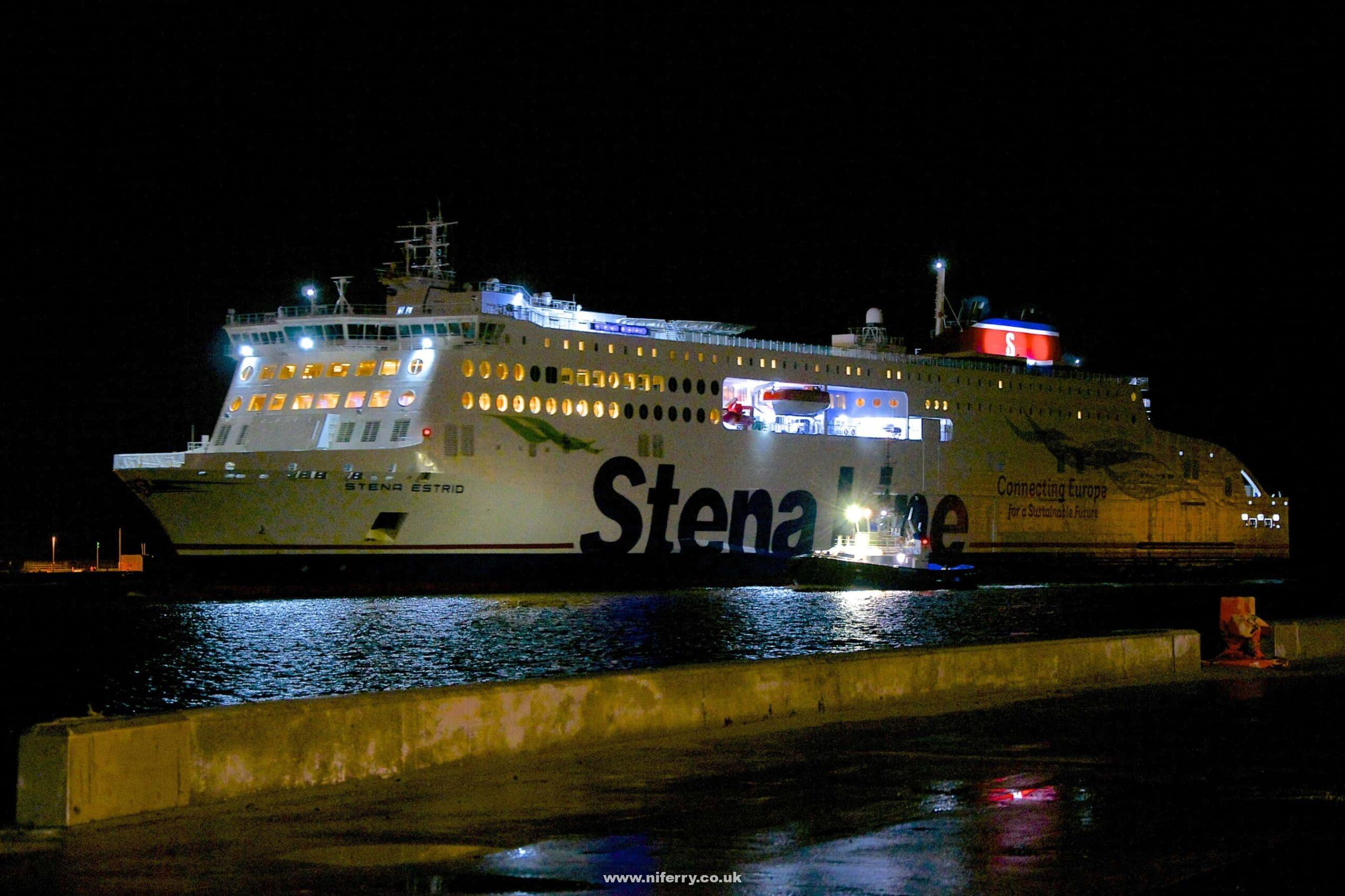 Stena Line's STENA ESTRID arrives at Dublin Port for the first time, 22.12.19. Copyright © Gordon Hislip.
