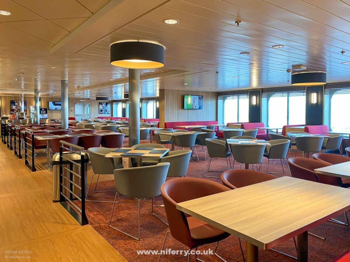 The large 'Truckers' lounge. This is totally segregated from the other passenger spaces onboard. © niferry.co.uk