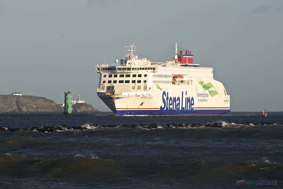 """Making an Entrance"". STENA ESTRID arrives off Dublin Port on her third day of service, 15.01.2020. © Gordon Hislip."