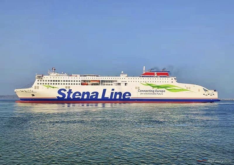 Stena's second E-Flexer ferry STENA EDDA on sea trials. © China Merchants Jinling (Weihai).