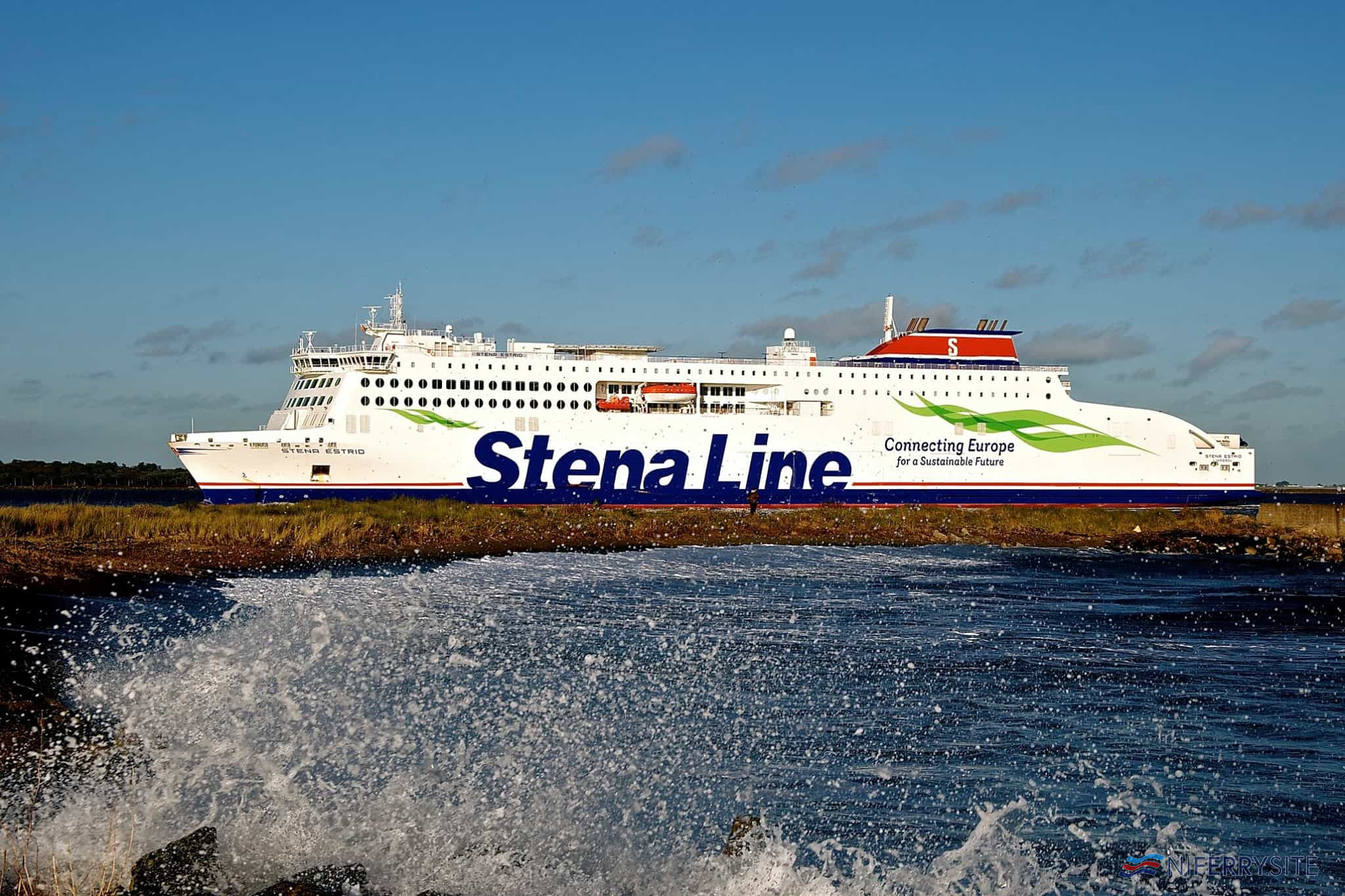 STENA ESTRID arrives at Dublin Port on her third day of service, 15.01.2020. © Gordon Hislip.