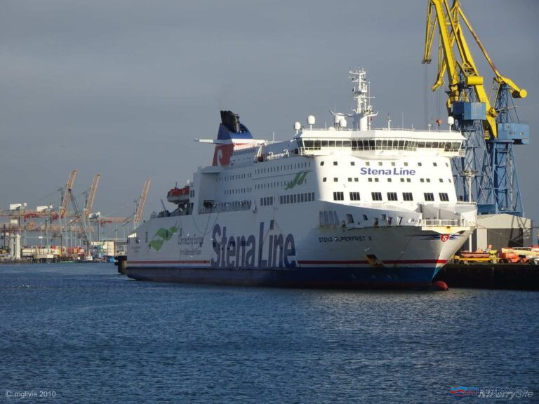 STENA SUPERFAST X seen at Harland & Wolff's Ship Repair Quay, 20.01.2020. Copyright Michael Livie.