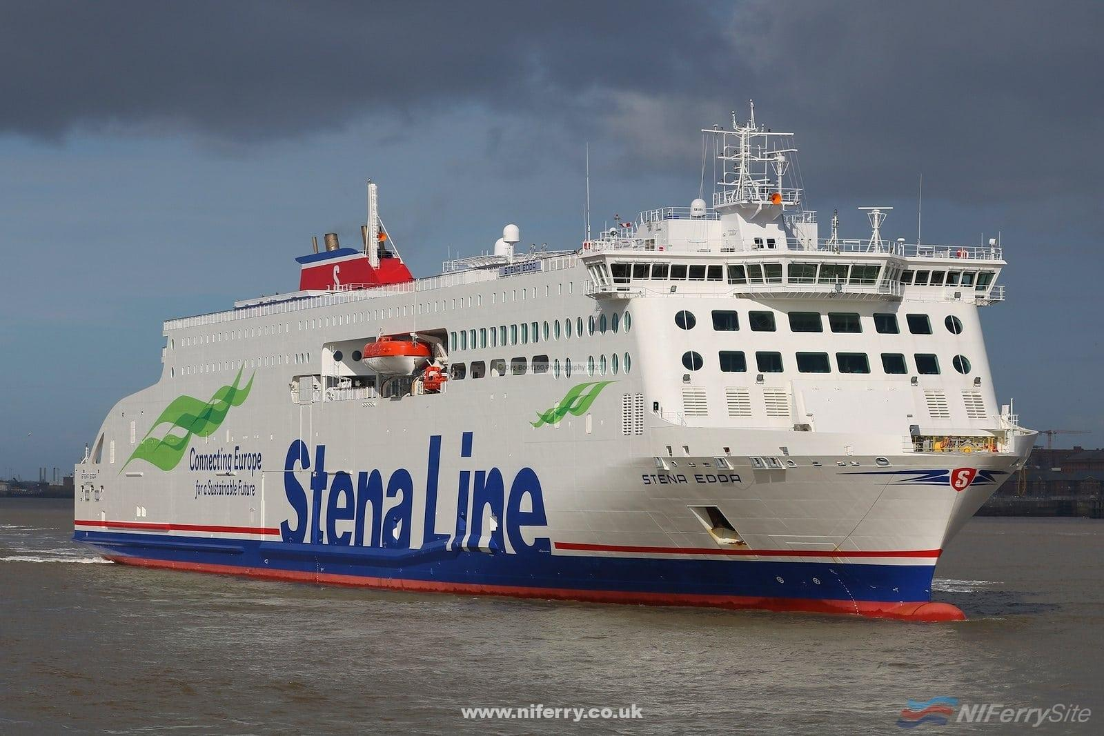 STENA EDDA seen at Birkenhead prior to entering service on the Birkenhead - Belfast route. Copyright © Das Boot 160 Photography.