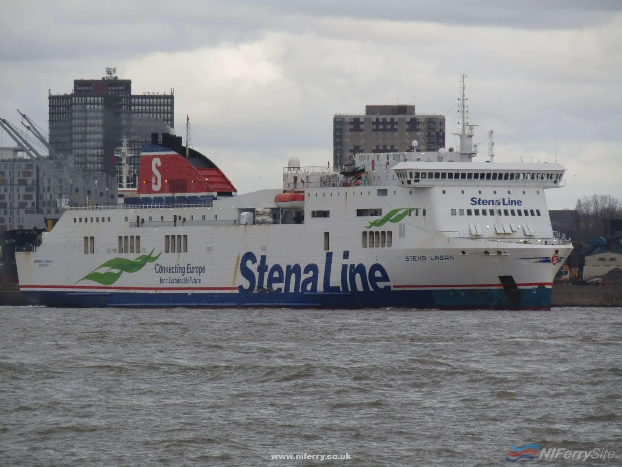 STENA LAGAN leaves Liverpool for the last time with a destination of Tuzla in Turkey. The former Belfast - Liverpool ferry is to be lengthened by 36 metres for a new role. Copyright © Rob Foy.