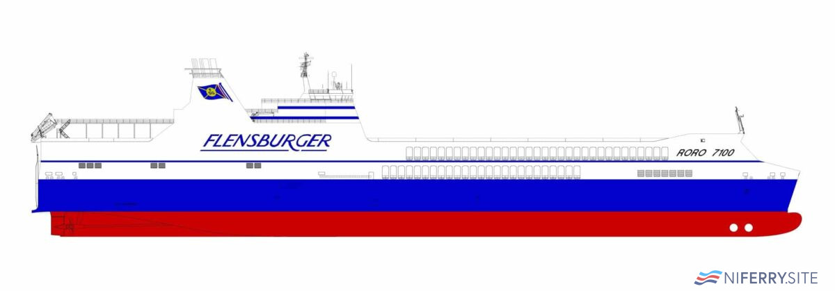 FSG's RoRo 7100 concept design can accommodate 7,100 lane metres of freight. Flensburger Schiffbau-Gesellschaft.