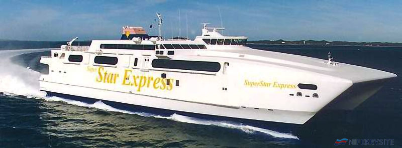 SUPERSTAR EXPRESS in her original Star Cruises livery. Star Cruises.
