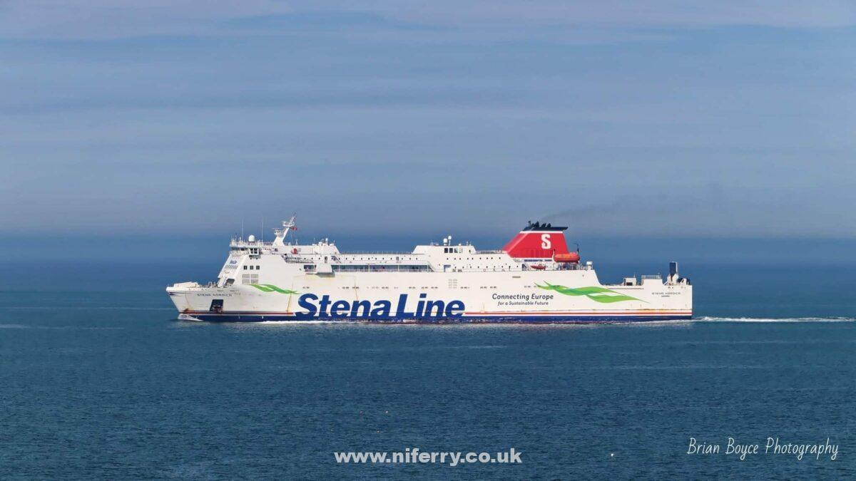 Stena Line's STENA NORDICA seen on her first day back in service on the Rosslare - Fishguard route, 16.06.20. The normal vessel on the route, STENA EUROPE left for dry dock at Harland & Wolff later the same day. Copyright © Brian Boyce