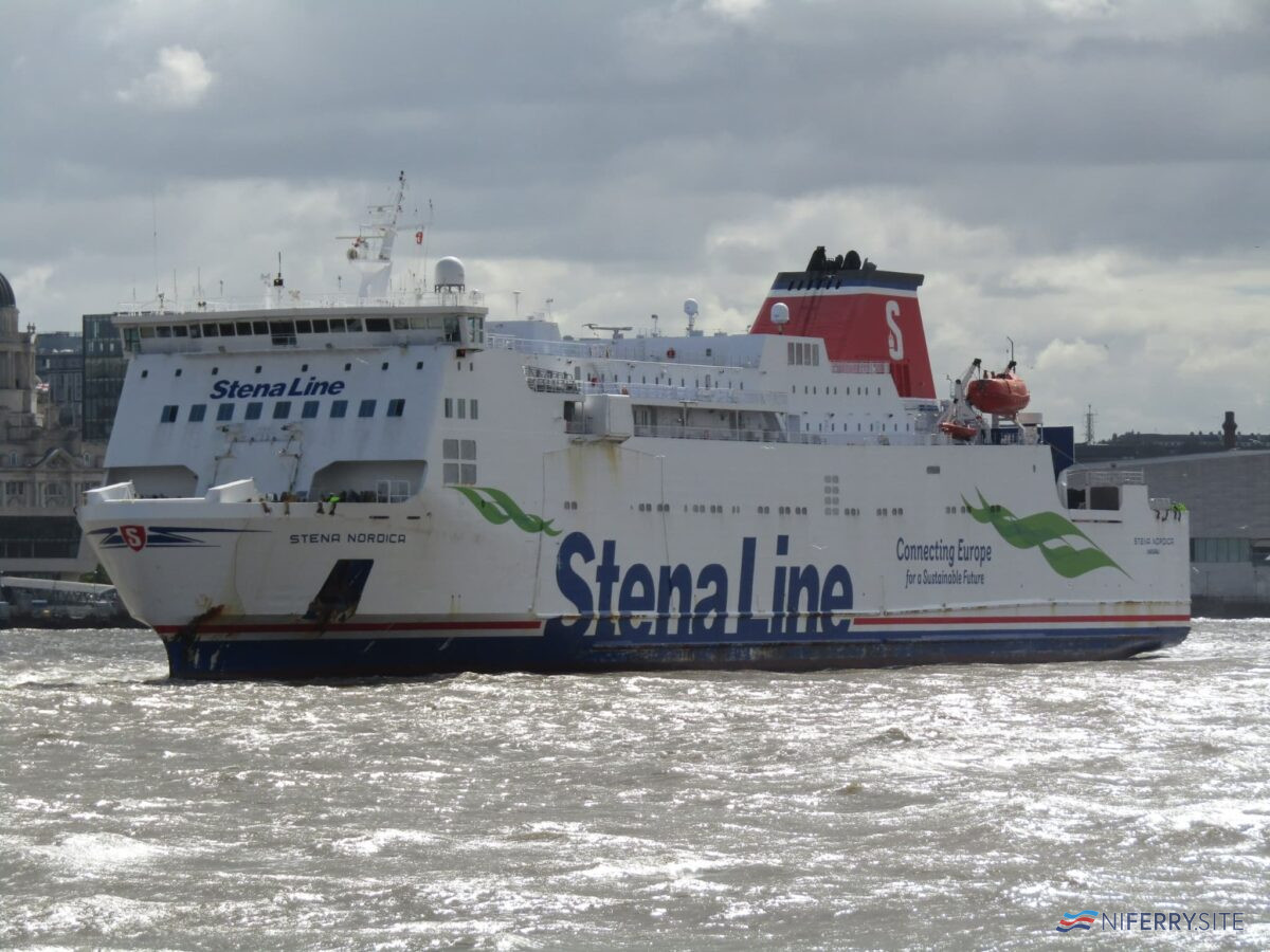 STENA NORDICA seen in the River Mersey, Sunday July 5 2020. Copyright © Rob Foy.