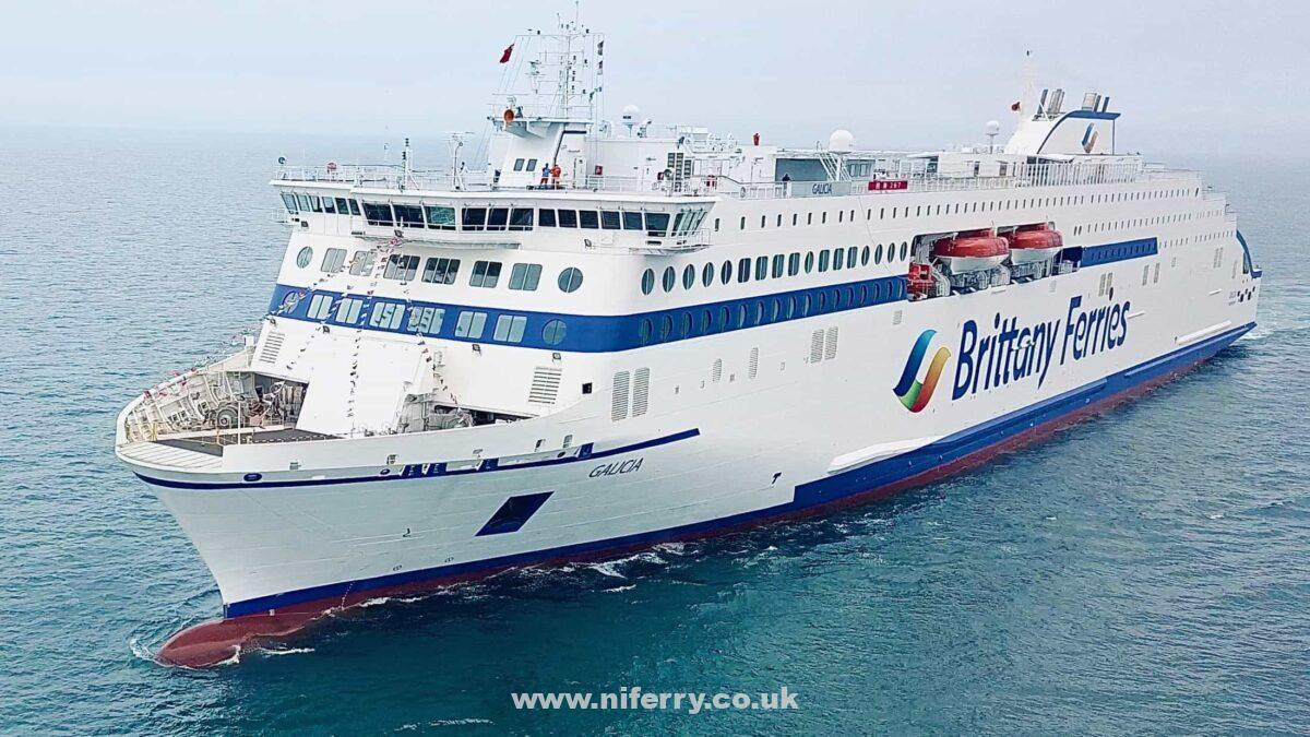 GALICIA seen undertaking sea trials ahead of her delivery. Brittany Ferries.