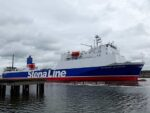Stena Line's Ro-Ro STENA SCOTIA leaves Belfast Building Dock on Sat 05.09.20 after over a month of maintenance. Copyright © Scott Mackey.