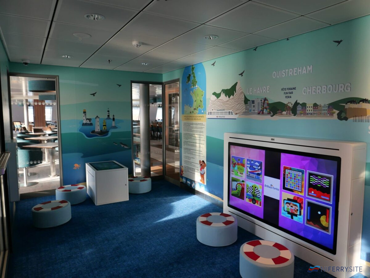 The deck 7 children's playroom onboard GALICIA. Brittany Ferries