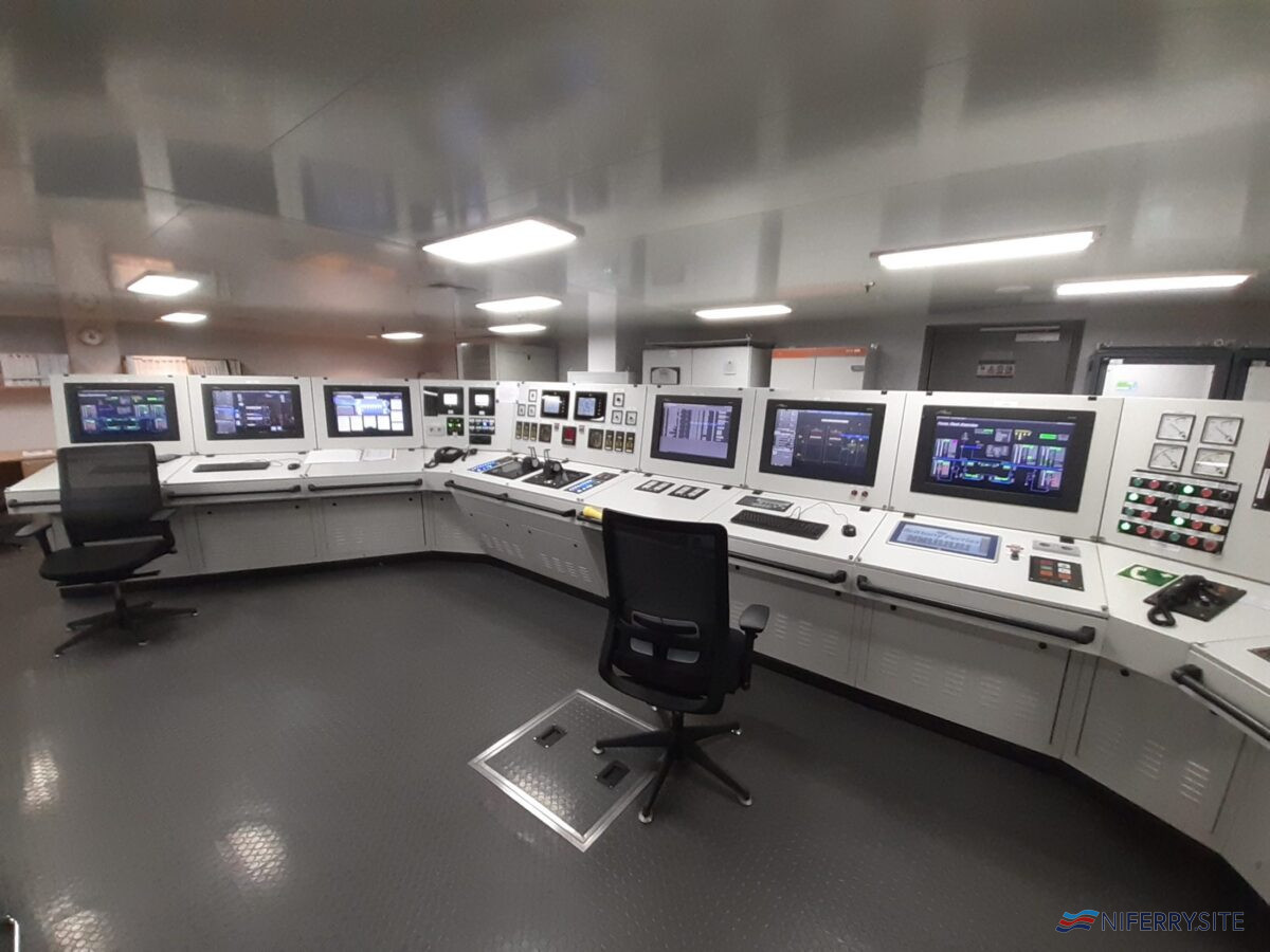 GALICIA engine control room. Brittany Ferries