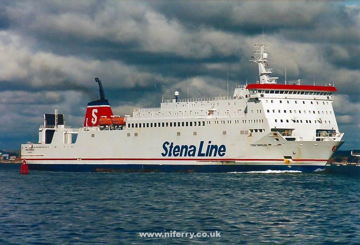 STENA TRAVELLER seen at Dublin during 1995 in the early days of Sealink Stena's then experimental Dublin -Holyhead route. © David Rimmer.