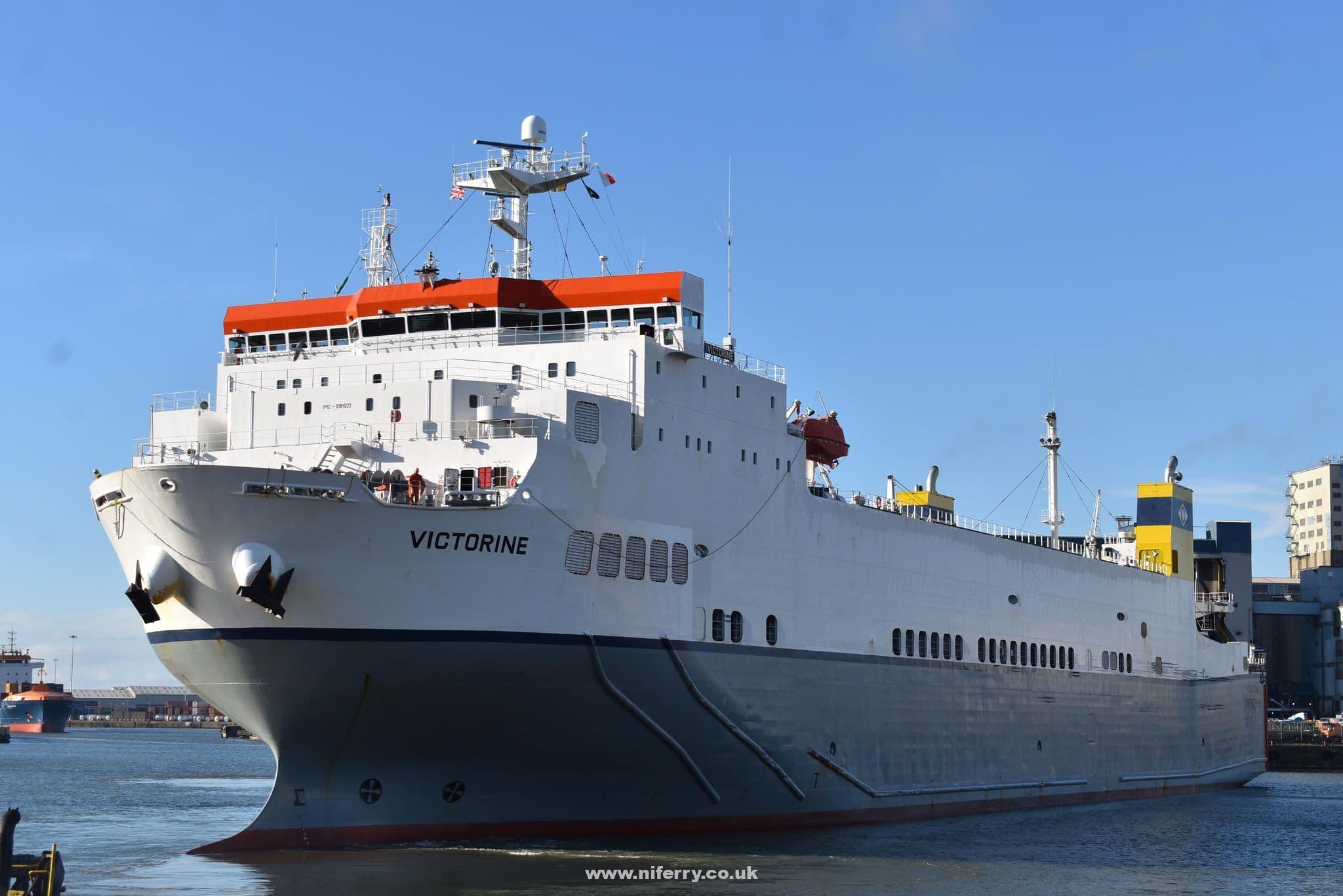 VICTORINE is one of the freight-only vessels used by CLdN to link Ireland and Continental Europe. She also offers direct sailings to Liverpool. © Matt Davies.