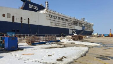 CÔTE D'OPALE fitting out on 14 January 2021 (Credit: DFDS)