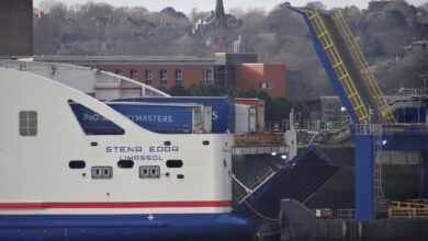 A very full looking STENA EDDA prepares to leave Birkenhead for Belfast on the morning of January 21, 2021. Copyright © David Faerder.