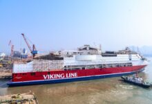 Viking Glory after launch. Image: Deltamarin LinkedIn