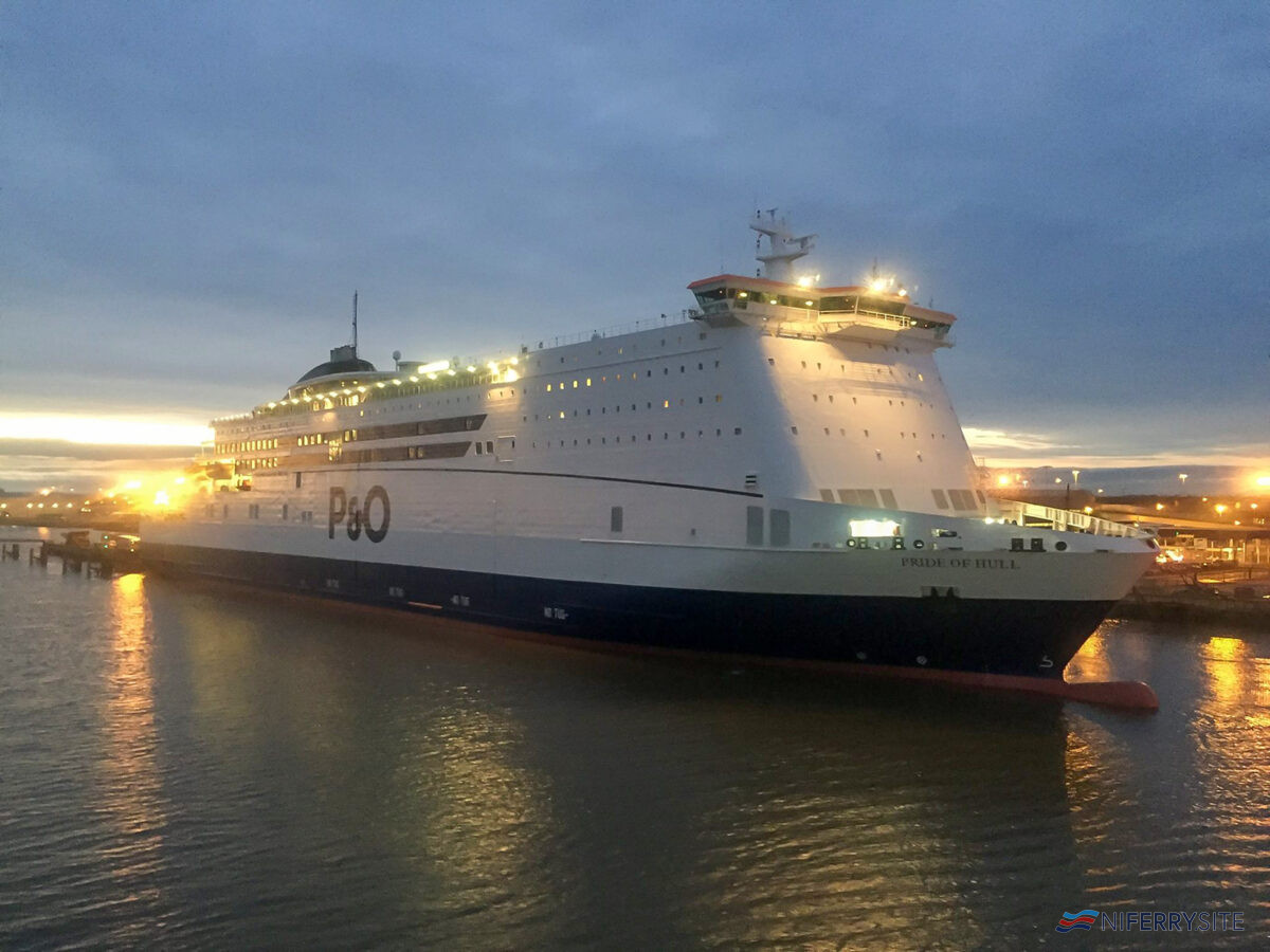 P&O Ferries' PRIDE OF HULL. Image © Gary Andrews.