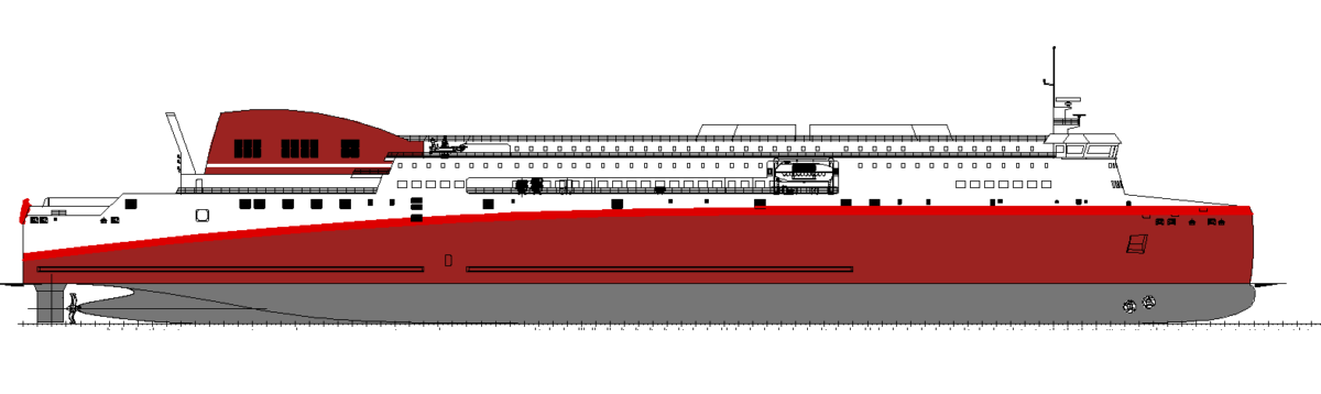 A first rendering of the ship that was to become Corsica Linea's first new Visentini building.  Image: Design of NAOS ships and boats.