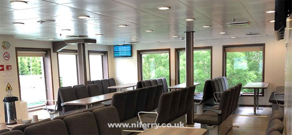Lounge area onboard Norled's UTNE.  Image: Norled.